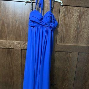 Women's blue formal dress